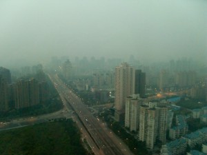 Shanghai smog from my hotel window