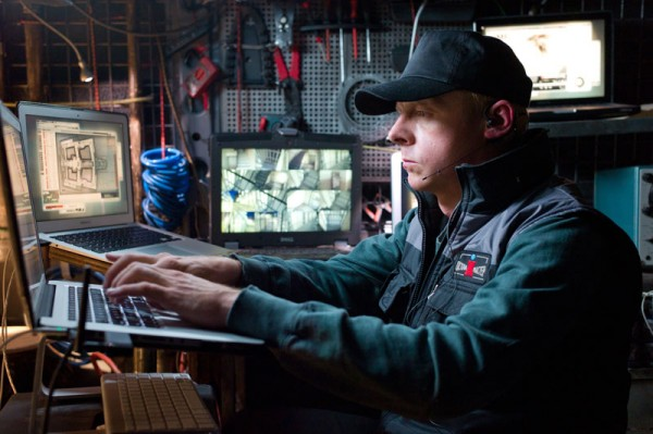 Simon Pegg in Mission Impossible Ghost Protocol