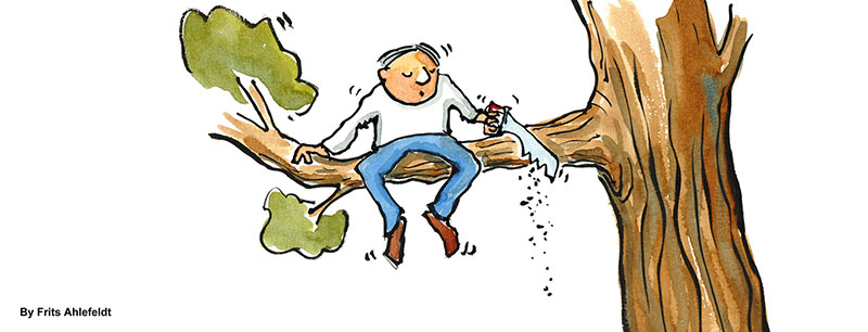 Sick of being attached to a tree, a man decides to take back control of his branch.